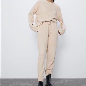 Zara 'Full Cut Suit Sweater' in Sand